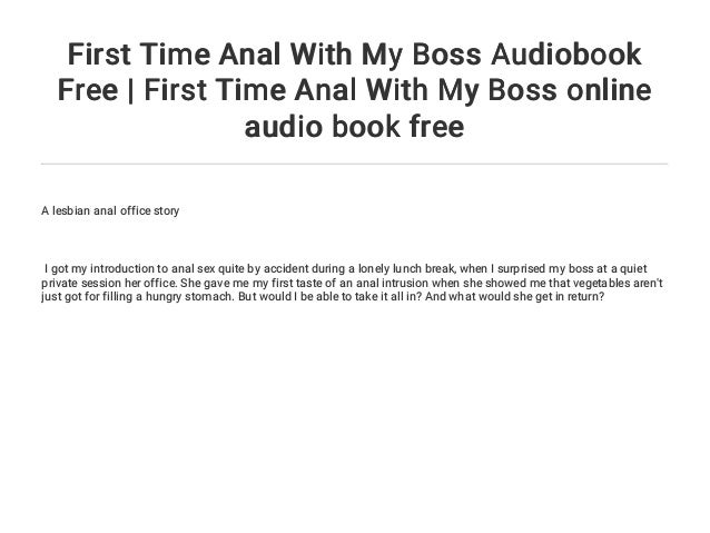 First time anal sex story