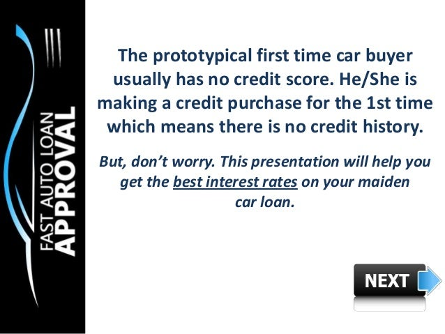 Car Loan Interest Rates First Time Buyer