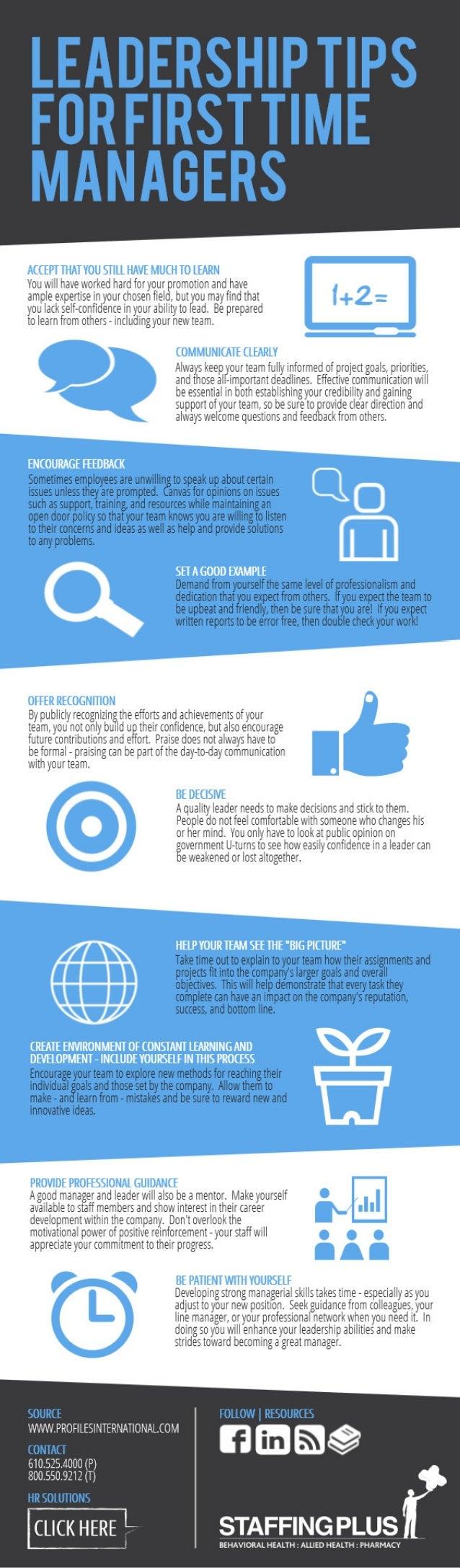 Tips de liderazgo para nuevos jefes
