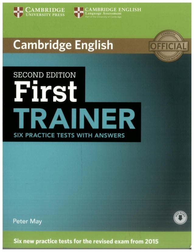 First trainer 2ª edition cambridge