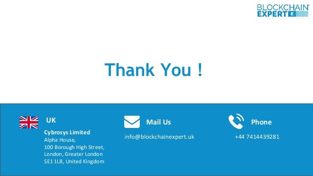 Cybrosys Limited Alpha House, 100 Borough High Street, London, Greater London SE1 1LB, United Kingdom Thank You ! info@blo...