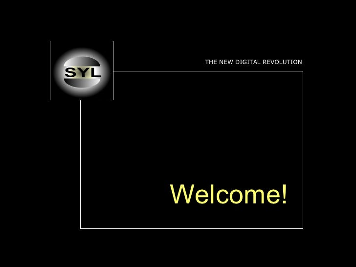 THE NEW DIGITAL REVOLUTION Welcome!