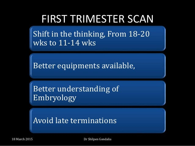 First trimester dating scan