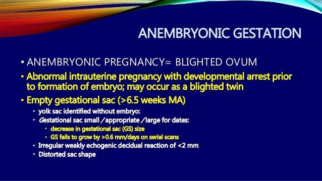 Empty gestational sac 5 weeks