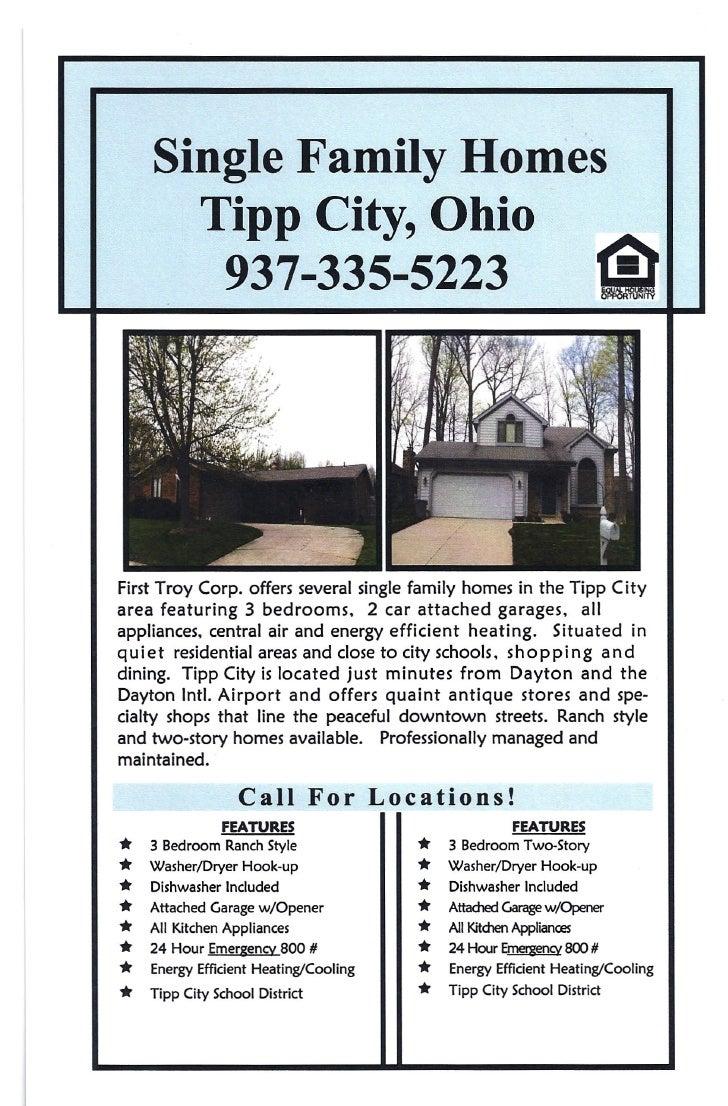 Single Family Homes       Tipp City, Ohio        937-335-5223                                                  1Ir   First...