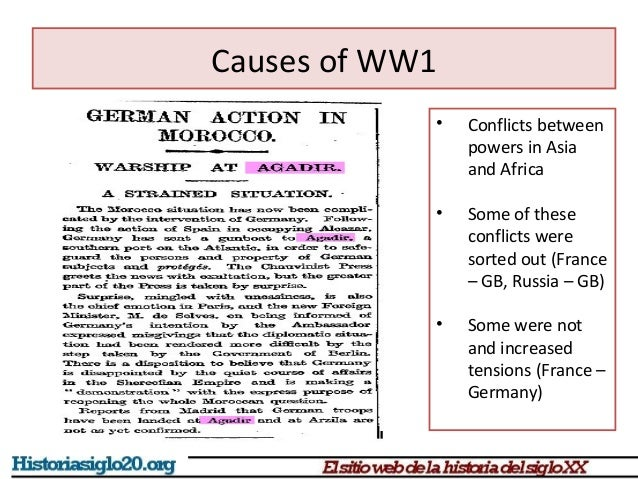 weltpolitik and causes ww1 Short-term causes of wwi  • as a result germany didn't get territories in northern africa, which was a failure for weltpolitik and a hit for their pride.