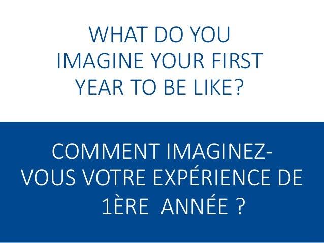 First Year Experience | L'expérience de première année Slide 2