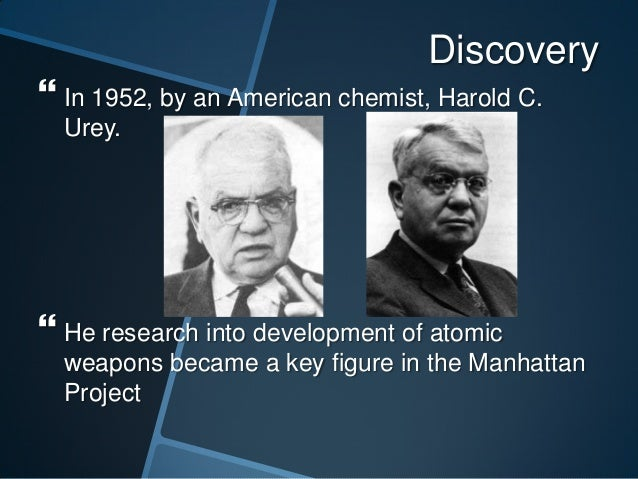 A study of harold c ureys hypothesis