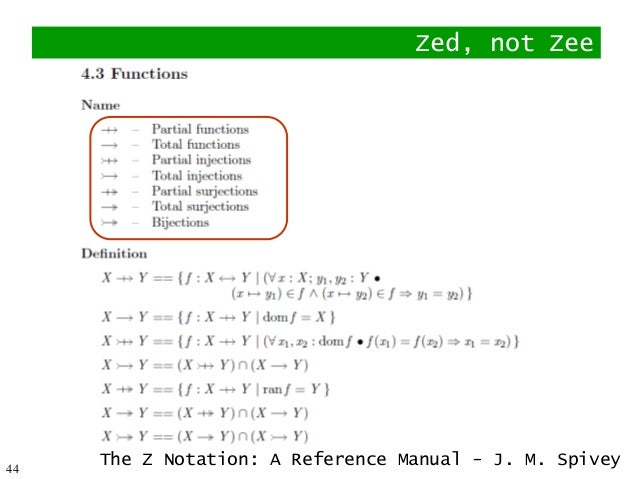 the z notation manual reference What is new in the 2004 edition of the reference post book reference post notation the biggest, and most notable change in the 2004 reference post book is the notation of the.
