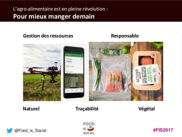 #FIS2017IS SOCIAL FOOD @Food_is_Social L'agro-alimentaire est en pleine révolution : Pour mieux manger demain Gestion des ...