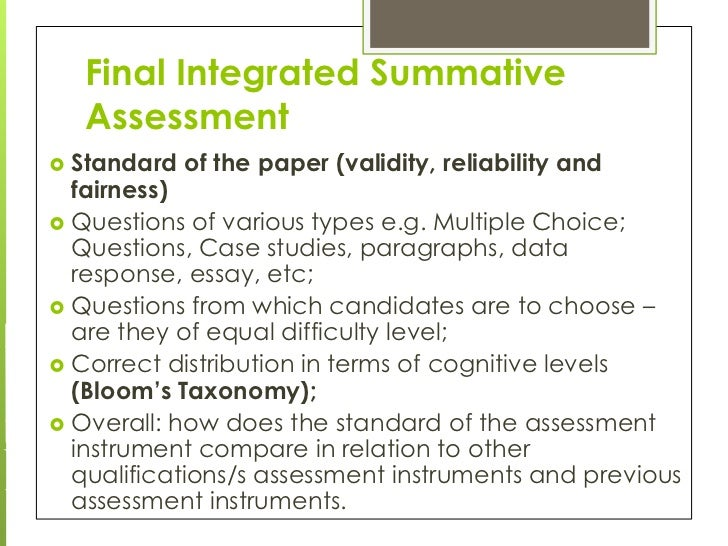 Integrative essay response