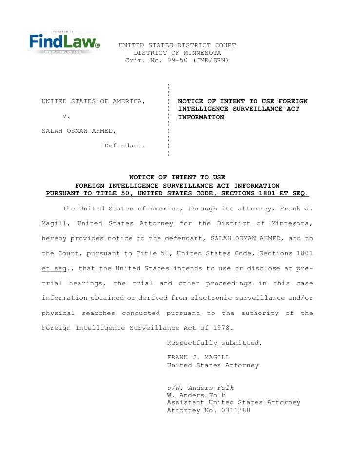 UNITED STATES DISTRICT COURT                          DISTRICT OF MINNESOTA                        Crim. No. 09-50 (JMR/SR...