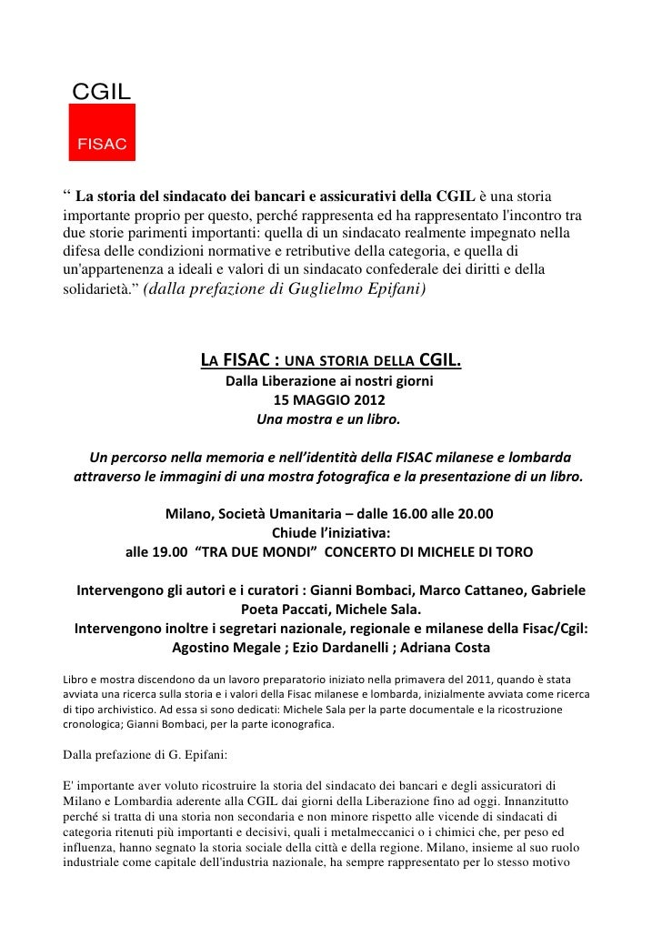 """CGIL  FISAC"""" La storia del sindacato dei bancari e assicurativi della CGIL è una storiaimportante proprio per questo, perc..."""