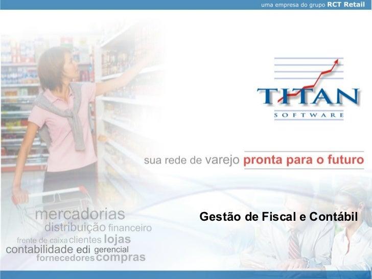 Gestão de Fiscal e Contábil