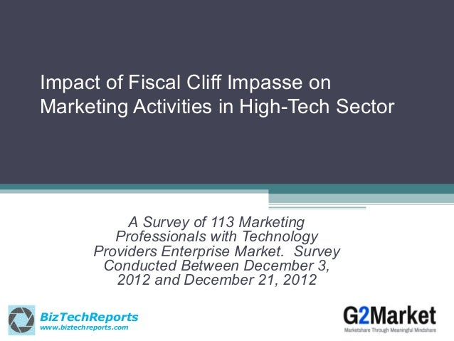 Impact of Fiscal Cliff Impasse onMarketing Activities in High-Tech Sector                  A Survey of 113 Marketing      ...