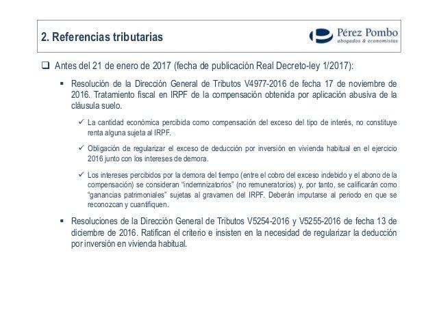 Fiscalidad de las cl usulas suelo for Decreto clausula suelo