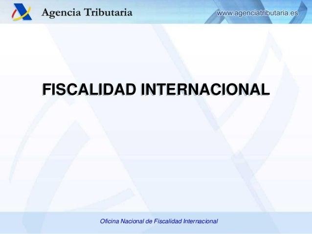 Fiscalidad internacional agencia estatal de for Oficinas de agencia tributaria madrid