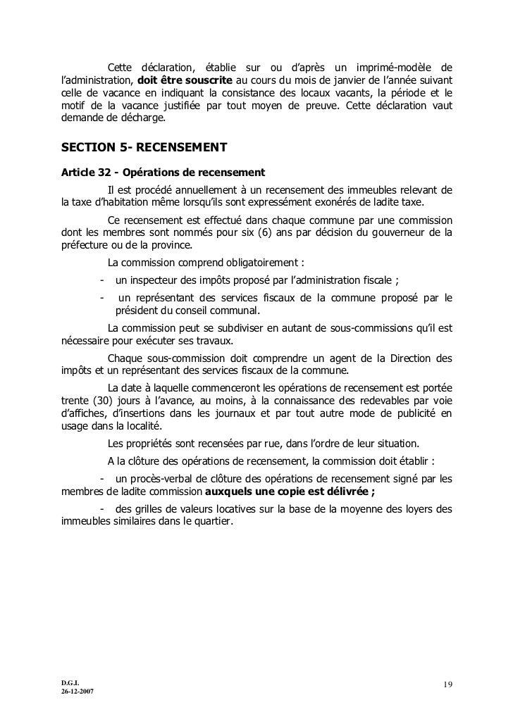 Fiscalite locale - Declaration achevement travaux impots ...