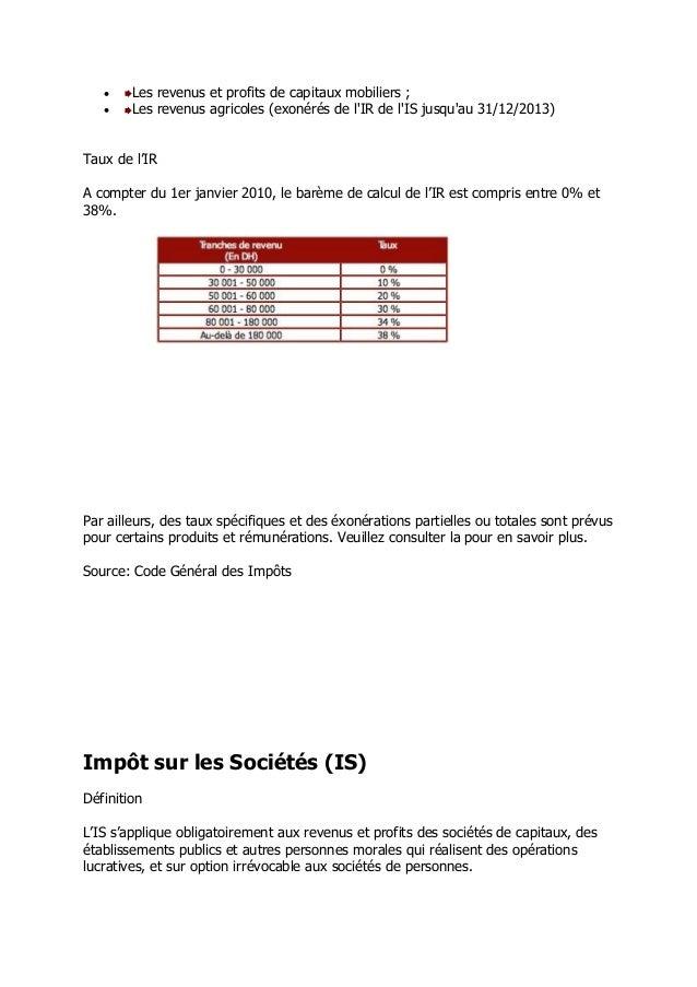 Fiscalite Maroc 2013
