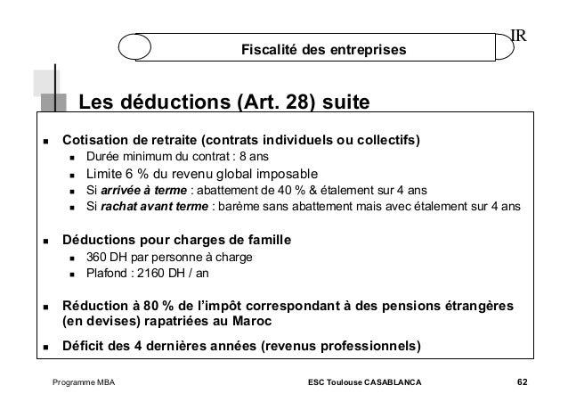 Fiscalite part 1 - Plafond revenu non imposable ...