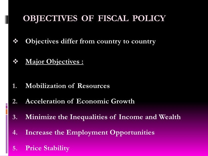 OBJECTIVES OF FISCAL POLICY EBOOK DOWNLOAD