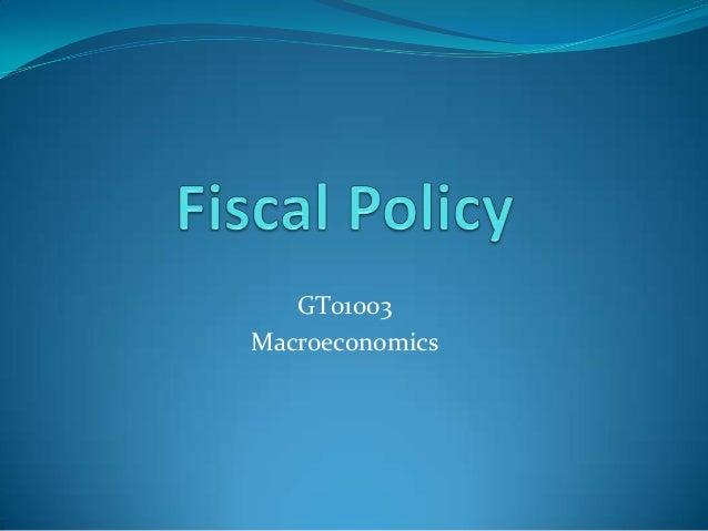 GT01003Macroeconomics