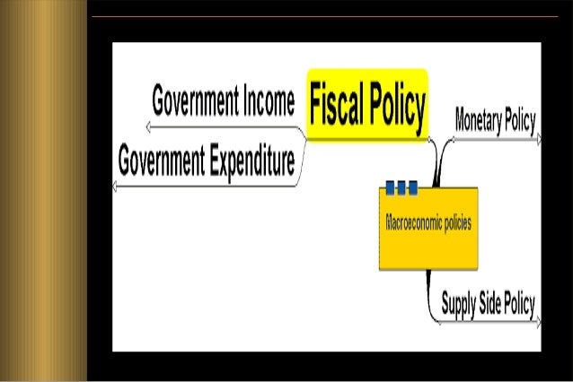 Fiscal Policy • The use of government spending and taxation to promote economy