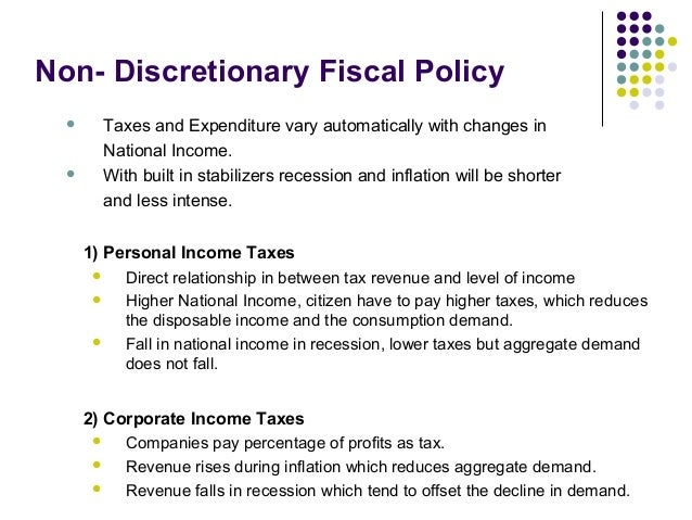 fiscal policys Federal tax and spending policies can affect the economy through their impact on federal borrowing, private demand for goods and services, people's incentives to.