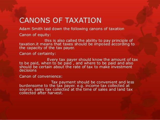 adam smith taxation