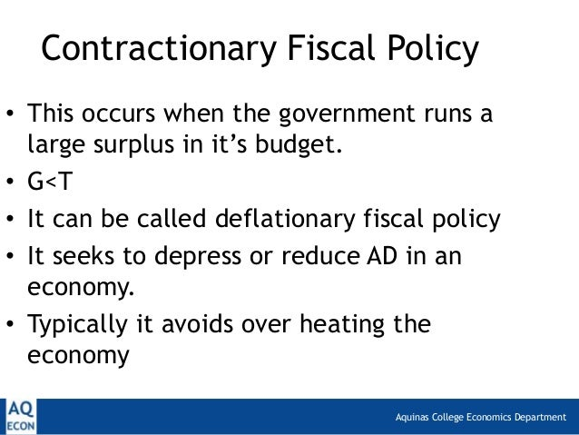 fiscal policy and government spending Fiscal policy is carried out by the executive and legislative branches of government that make policy regarding government spending  fiscal policy involves raising .