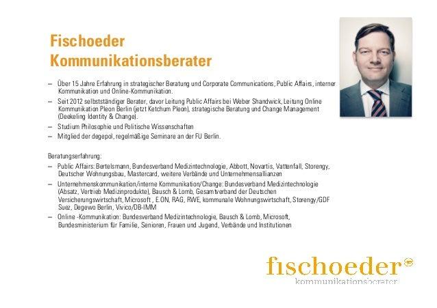 Fischoeder Kommunikationsberater – Über 15 Jahre Erfahrung in strategischer Beratung und Corporate Communications, Public...