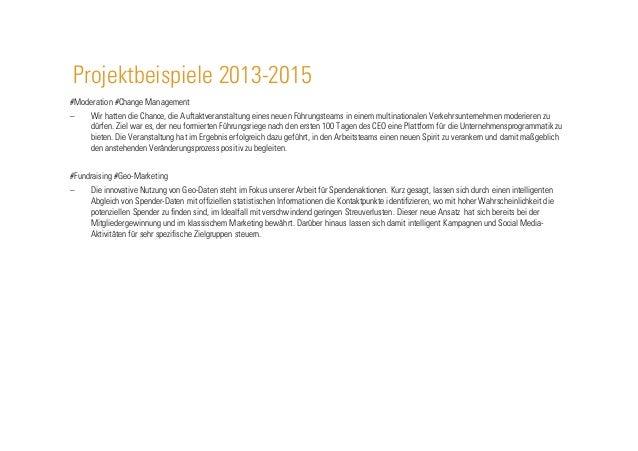 Projektbeispiele 2013-2015 #Moderation #Change Management – Wir hatten die Chance, die Auftaktveranstaltung eines neuen F...