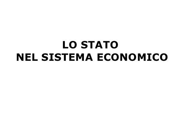 LO STATONEL SISTEMA ECONOMICO