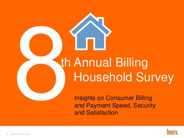 Fiserv 8th Annual Billing Household Study