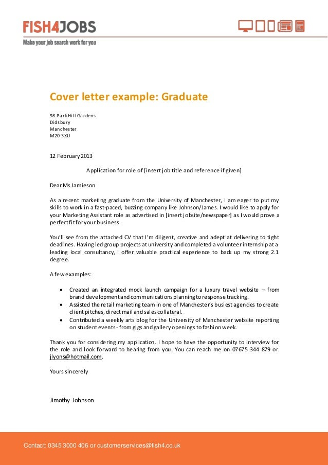 Cover Letter Example College Graduate from image.slidesharecdn.com