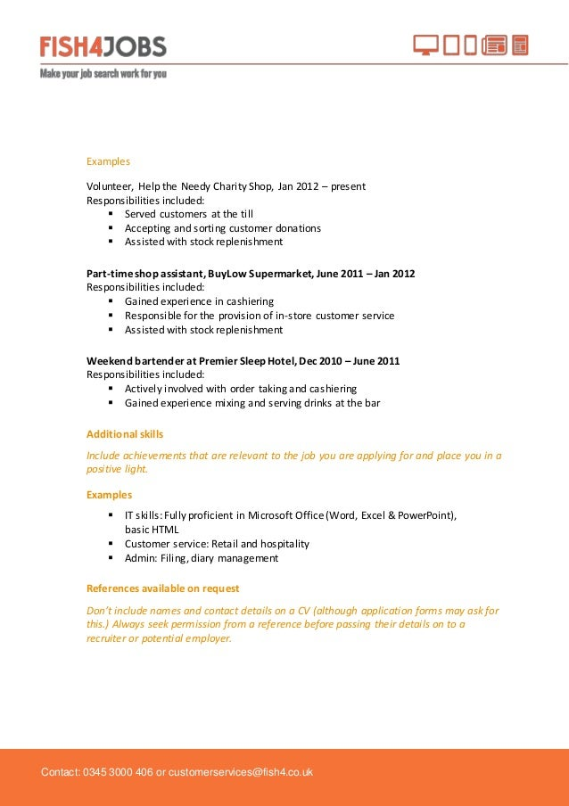 School leavers cv template fieldstation school leavers cv template yelopaper Images