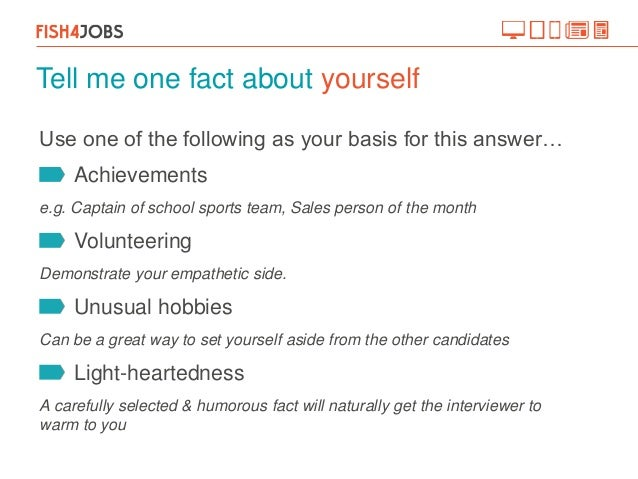 how to answer the question tell me about yourself example