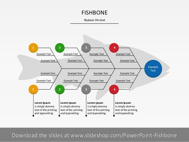 FISHBONE Replace this text  1  2 Example Text  Example Text  Example Text  Lorem Ipsum is simply dummy text of the printin...