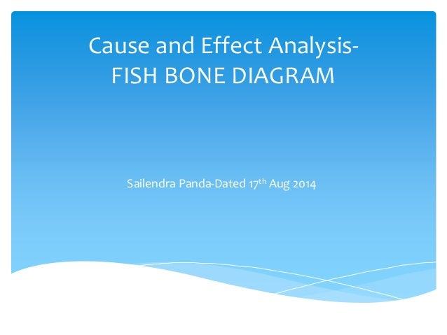 Cause and Effect Analysis- FISH BONE DIAGRAM Sailendra Panda-Dated 17th Aug 2014