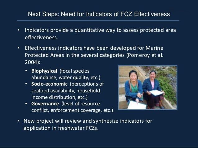 • Indicators provide a quantitative way to assess protected area effectiveness. • Effectiveness indicators have been devel...