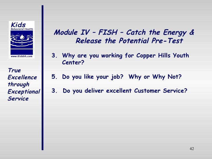 Customer service training for Fish customer service