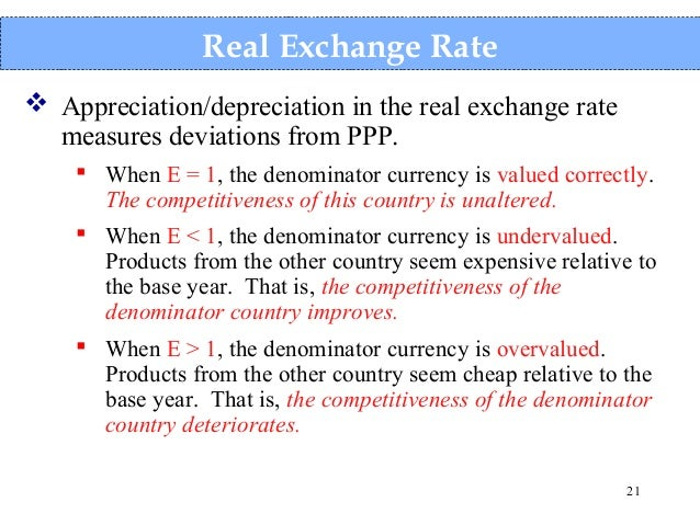 appreciation exchange rate What does exchange rate appreciation mean for export competitiveness the us dollar exchange rate critically the recent appreciation has largely been.