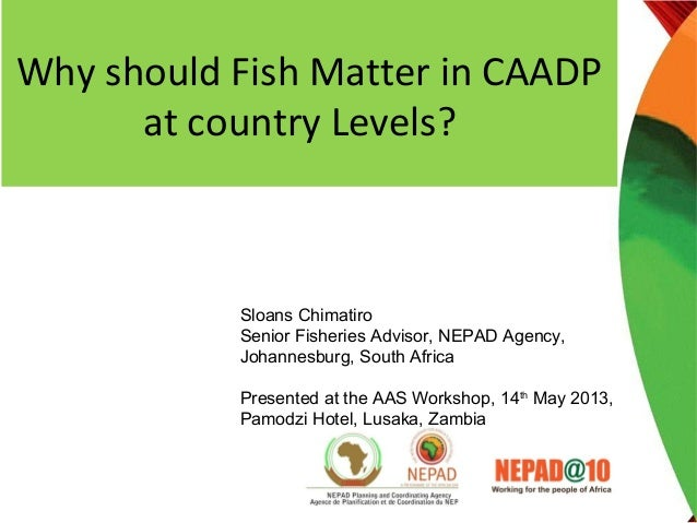 Why should Fish Matter in CAADPat country Levels?Sloans ChimatiroSenior Fisheries Advisor, NEPAD Agency,Johannesburg, Sout...