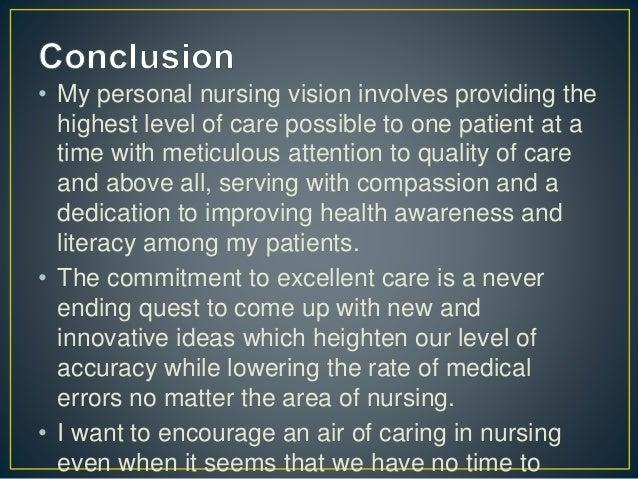 nursing leadership vision