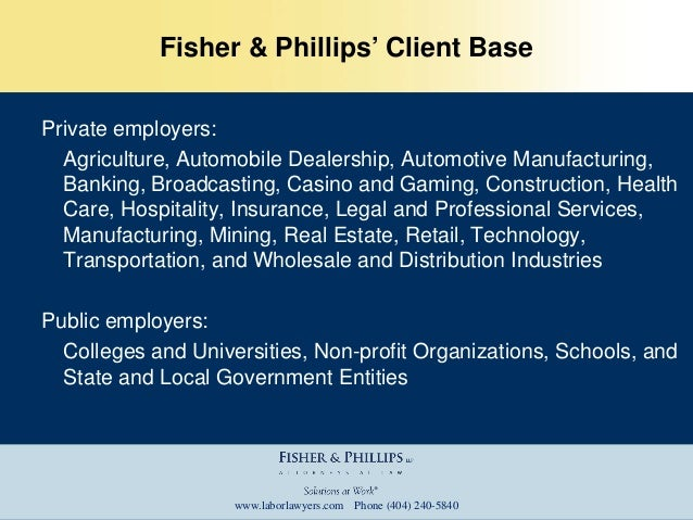 Fisher & Phillips LLP Power Point