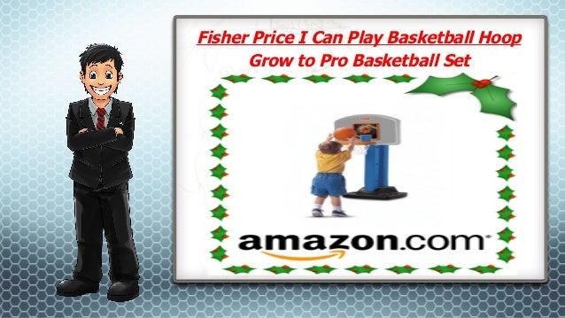 Fisher Price I Can Play Basketball Hoop Grow to Pro Basketball Set