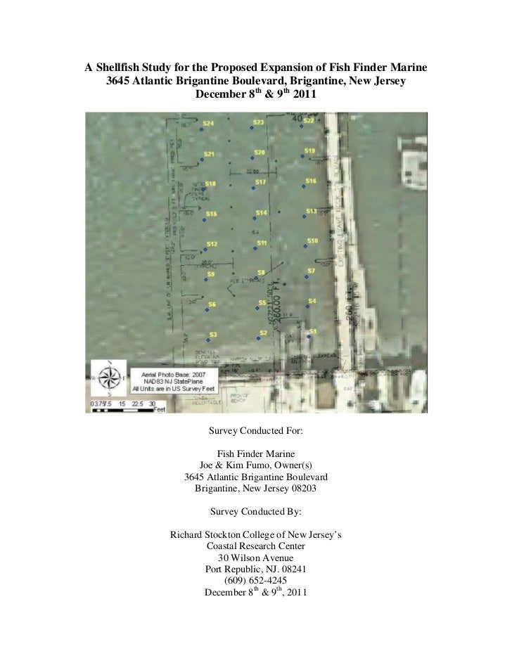 A Shellfish Study for the Proposed Expansion of Fish Finder Marine    3645 Atlantic Brigantine Boulevard, Brigantine, New ...