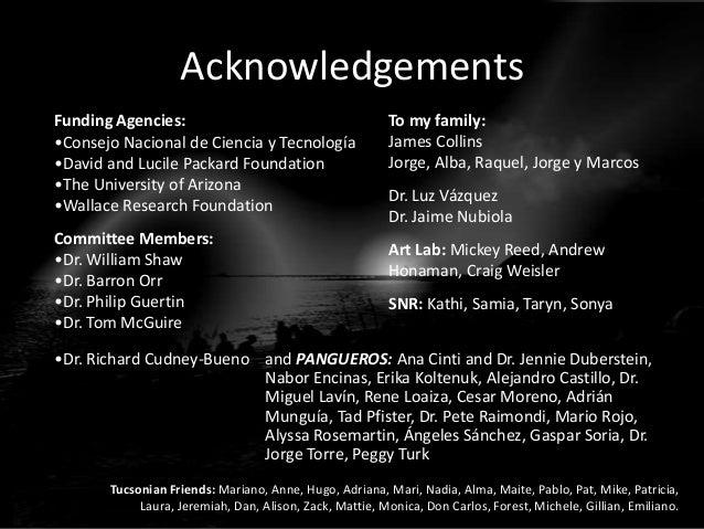 Acknowledgements Funding Agencies: •Consejo Nacional de Ciencia y Tecnología •David and Lucile Packard Foundation •The Uni...