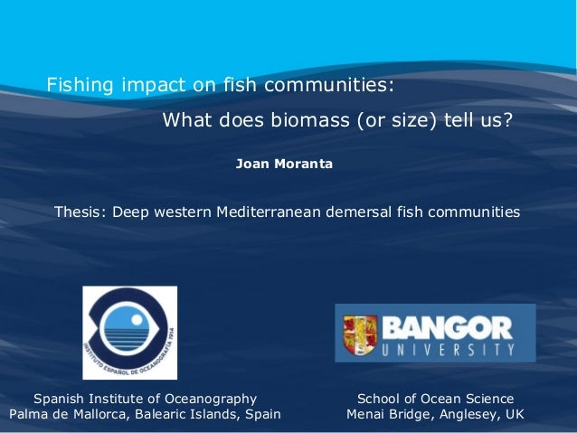 Fishing impact on fish communities: What does biomass (or size) tell us? Joan Moranta  Thesis: Deep western Mediterranean ...