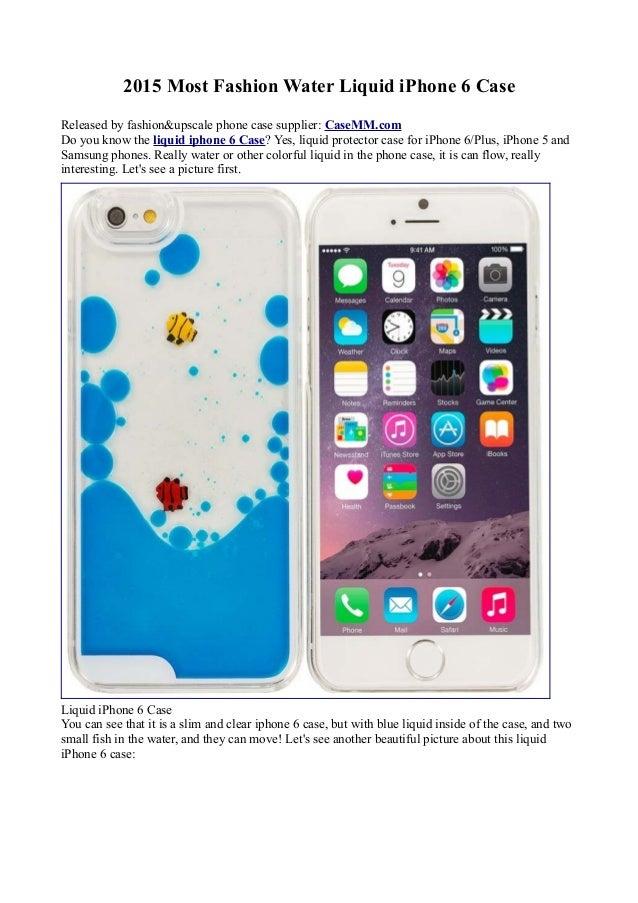 super popular 736fa 56841 2015 Newest Fashion Fish Liquid Water Tank Case for iPhone 6/Plus Sam…